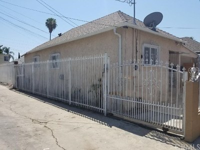 Los Angeles Single Family Home For Sale: 219 E 52 Street