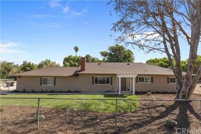 Riverside Single Family Home For Sale: 17390 Mockingbird Canyon Road