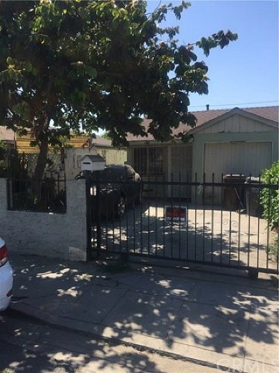 Compton Single Family Home For Sale: 726 W Cressey Street
