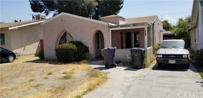 San Bernardino Single Family Home Active Under Contract: 2765 N E Street