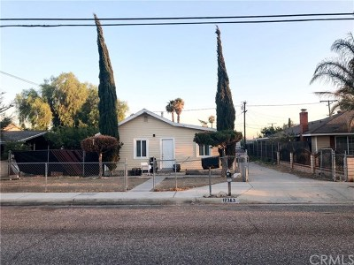 Fontana Single Family Home For Sale: 17363 San Bernardino Avenue