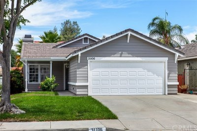 Temecula Single Family Home For Sale: 31106 Shicali Court