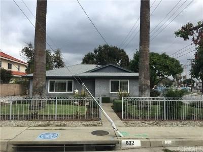 San Gabriel Single Family Home For Sale: 832 S California Street S