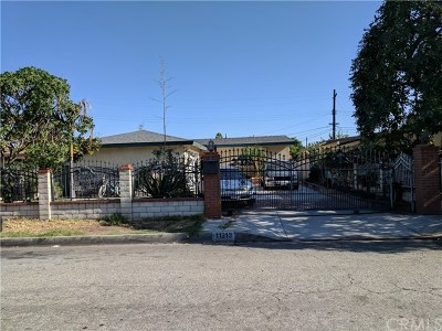 El Monte Single Family Home For Sale: 11213 Maryvine Street