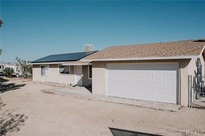 Joshua Tree CA Single Family Home For Sale: $249,999