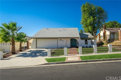 Corona Single Family Home For Sale: 1607 Mariposa Drive