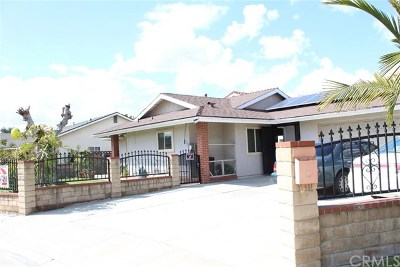 El Monte Single Family Home For Sale: 2715 Bryce Road