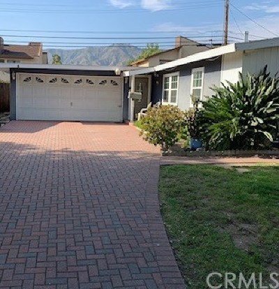 Azusa Single Family Home For Sale: 741 E Matchwood Street