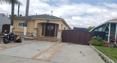 Compton Single Family Home For Sale: 1633 E 124th Street