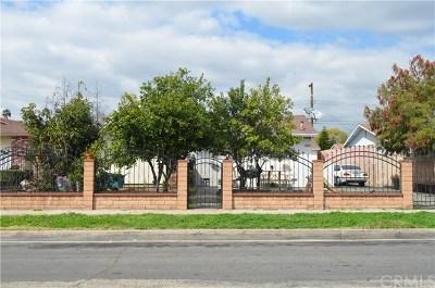 La Puente Single Family Home For Sale: 1129 Sandia Avenue