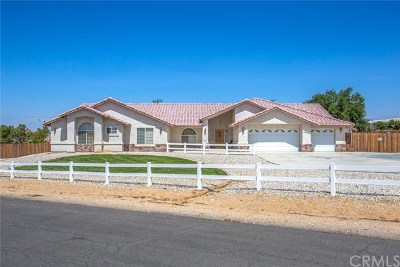 Apple Valley Single Family Home For Auction: 18989 Pachappa Road
