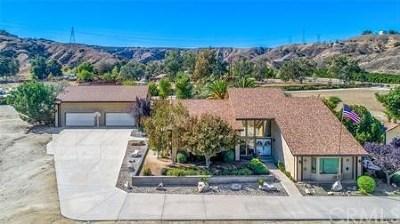 Redlands Single Family Home For Sale: 28450 Live Oak Canyon Road