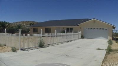 Yucca Valley Single Family Home For Sale: 58106 Bonanza Drive