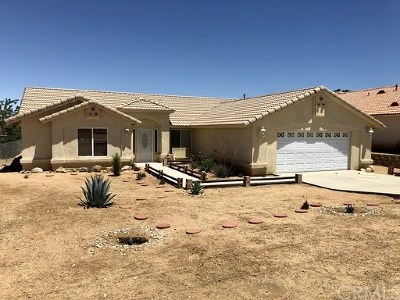 Yucca Valley Single Family Home For Sale: 8075 Church Street