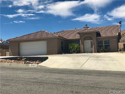 Yucca Valley Single Family Home Active Under Contract: 57157 Juarez Drive