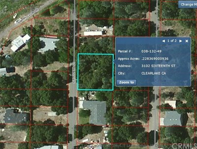 Clearlake Residential Lots & Land For Sale: 3102 16th Street