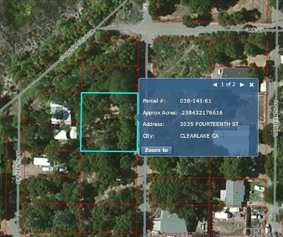 Clearlake Residential Lots & Land For Sale: 3035 14th Street