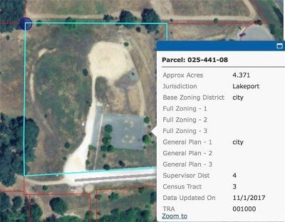 Lakeport Residential Lots & Land For Sale: 1296 Craig Avenue
