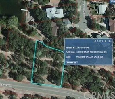 Hidden Valley Lake Residential Lots & Land For Sale: 18750 East Ridge View Drive