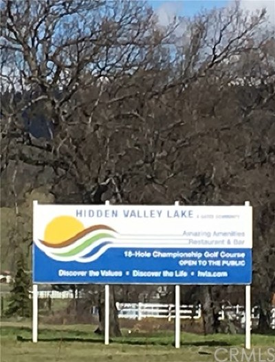 Hidden Valley Lake Residential Lots & Land For Sale: 19746 Park Hill Road