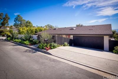 Laguna Beach Single Family Home For Sale: 2975 Chillon Way