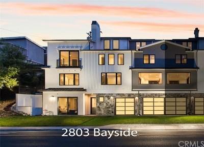Corona Del Mar Condo/Townhouse For Sale: 2803 Bayside