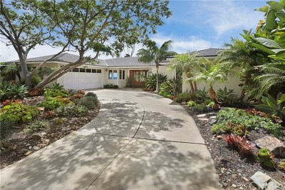 Laguna Beach Single Family Home For Sale: 30691 Driftwood Drive
