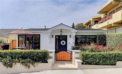 Laguna Beach Single Family Home For Sale: 254 Wave Street