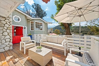 Laguna Beach Single Family Home For Sale: 1310 Bluebird Canyon Drive