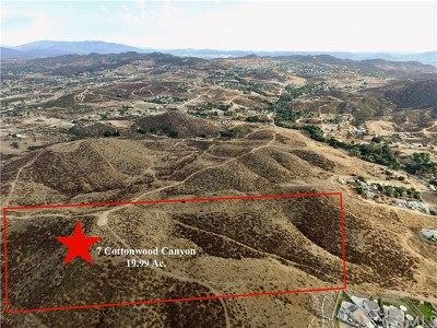 Wildomar Residential Lots & Land For Sale: 7 Cottonwood Canyon Road
