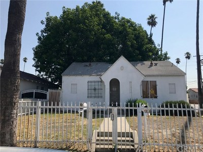 Los Angeles Multi Family Home Active Under Contract: 3896 3rd Avenue