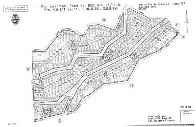 San Bernardino County Residential Lots & Land For Sale: 29779 Hickory Drive