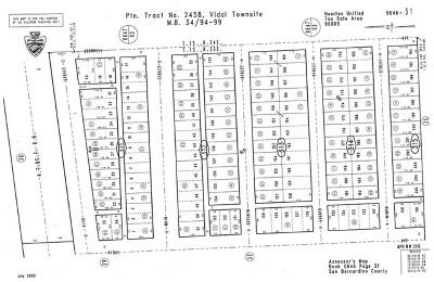 San Bernardino County Residential Lots & Land For Sale: Main Street