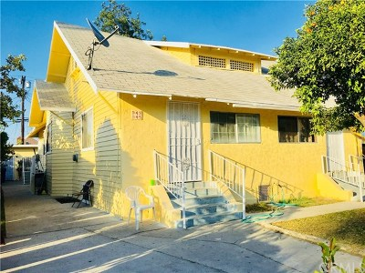 Los Angeles Multi Family Home For Sale: 943 E 23rd Street