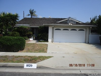 Torrance Single Family Home For Sale: 1829 W 185th Street