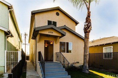Los Angeles Single Family Home For Sale: 6558 S Van Ness Avenue