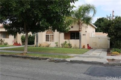 Long Beach Single Family Home For Sale: 1429 E Poinsettia Street