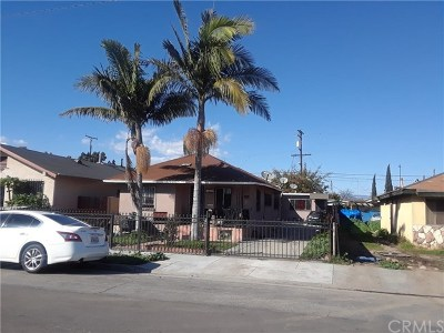 Los Angeles Multi Family Home For Sale: 1631 E 89th Street