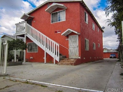 Los Angeles Multi Family Home For Sale: 119 E 89th Street
