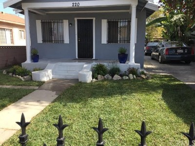 Los Angeles County Multi Family Home For Sale: 218 E 81st Street