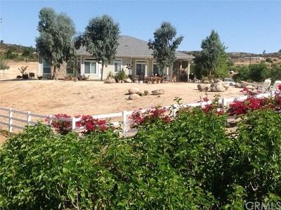 Hemet Single Family Home For Sale: 40760 Watts Road