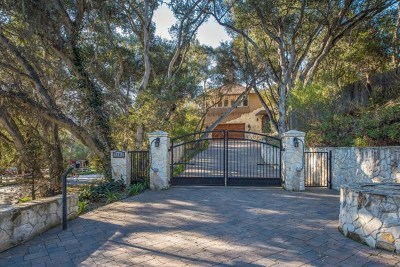 Carmel Valley Single Family Home Active Under Contract: 7041 Carmel Valley Road