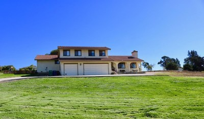 Salinas Single Family Home For Sale: 24680 Foothill Drive