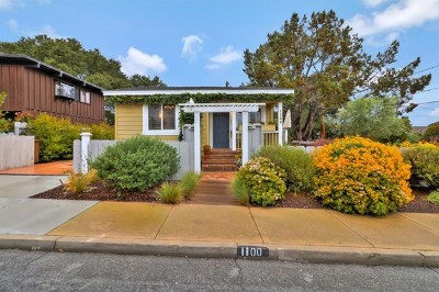 Monterey Single Family Home For Sale: 1100 Hoffman Avenue