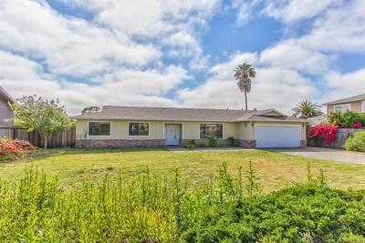 Salinas Single Family Home For Sale: 9912 Timothy