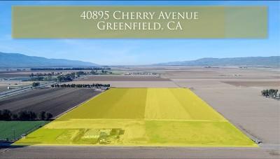 San Luis Obispo County, Monterey County, Santa Barbara County Residential Lots & Land For Sale: 40895 Cherry Avenue