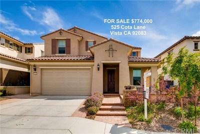 Vista Single Family Home For Sale: 525 Cota Lane