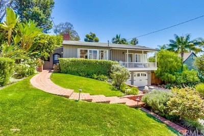 Laguna Beach Single Family Home For Sale: 655 Bluebird Canyon Drive