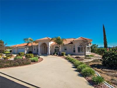 Fallbrook Single Family Home For Sale: 2483 Via Del Aquacate