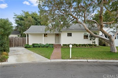 Costa Mesa Single Family Home Active Under Contract: 446 Esther